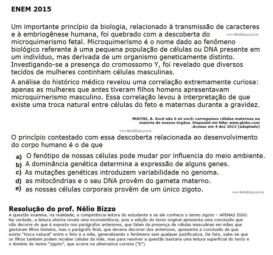 ENEM_2015_47_microquimerismo