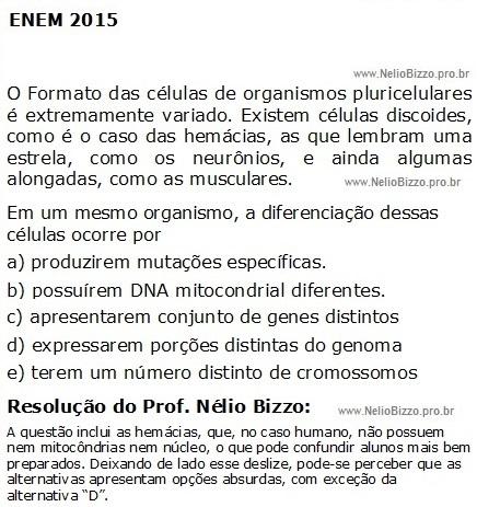 ENEM_2015_Histologia_expressao_genica
