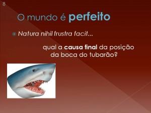 Como Aristóteles explica a posição da boca do tubarão?