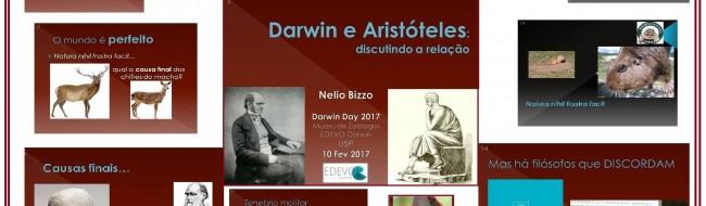 """Palestra """"DARWIN e ARISTÓTELES: discutindo a relação"""" – I"""